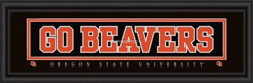"Oregon State Beavers ""Go Beavers"" Stitched Jersey Framed Print"