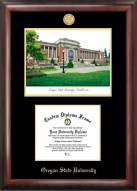 Oregon State Beavers Gold Embossed Diploma Frame with Lithograph