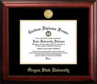 Oregon State Beavers Gold Embossed Diploma Frame