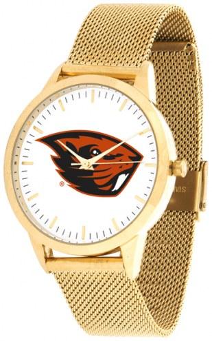 Oregon State Beavers Gold Mesh Statement Watch