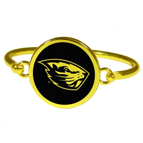 Oregon State Beavers Gold Tone Bangle Bracelet