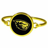 Oregon State Beavers Gold Tone Bangle Bracelet