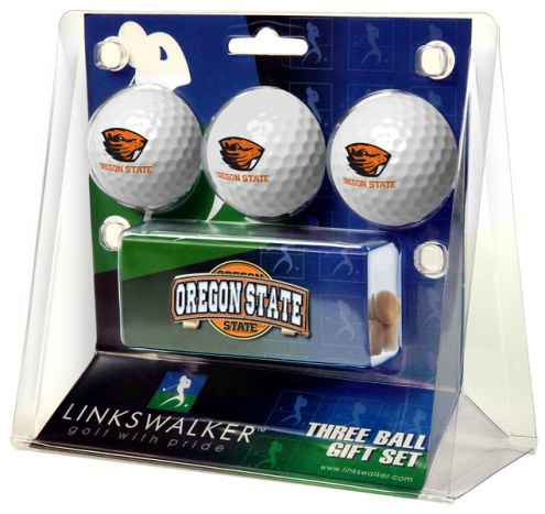 Oregon State Beavers Golf Ball Gift Pack with Slider Clip