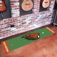Oregon State Beavers Golf Putting Green Mat