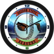 Oregon State Beavers Home Run Wall Clock