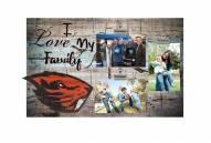 Oregon State Beavers I Love My Family Clip Frame