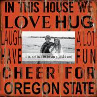 """Oregon State Beavers In This House 10"""" x 10"""" Picture Frame"""