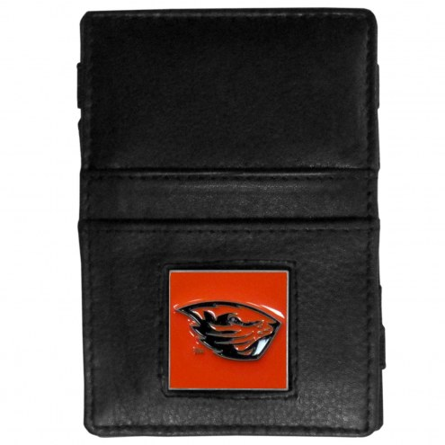 Oregon State Beavers Leather Jacob's Ladder Wallet