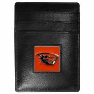 Oregon State Beavers Leather Money Clip/Cardholder in Gift Box