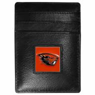 Oregon State Beavers Leather Money Clip/Cardholder