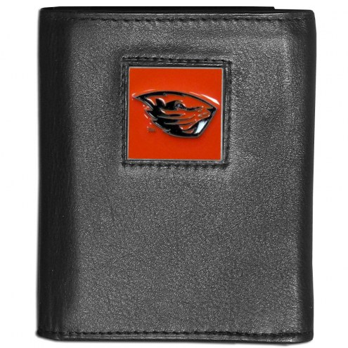 Oregon State Beavers Leather Tri-fold Wallet