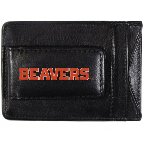 Oregon State Beavers Logo Leather Cash and Cardholder