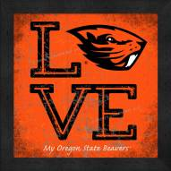 Oregon State Beavers Love My Team Color Wall Decor