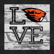 Oregon State Beavers Love My Team Square Wall Decor