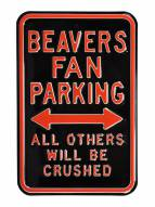 Oregon State Beavers NCAA Embossed Parking Sign