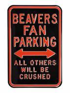Oregon State Beavers NCAA Embossed Parking Sign
