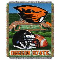 Oregon State Beavers NCAA Woven Tapestry Throw Blanket