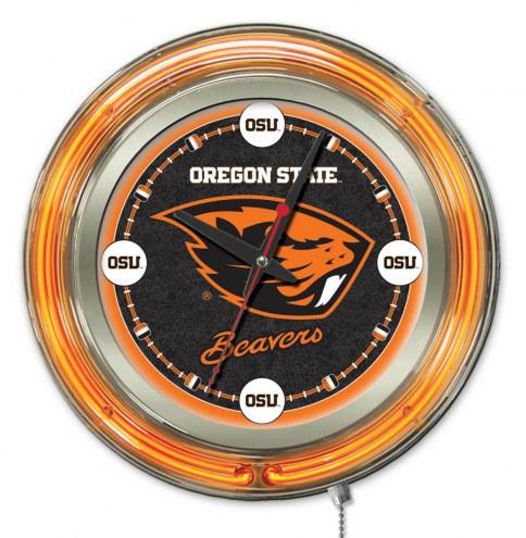 Oregon State Beavers Neon Clock