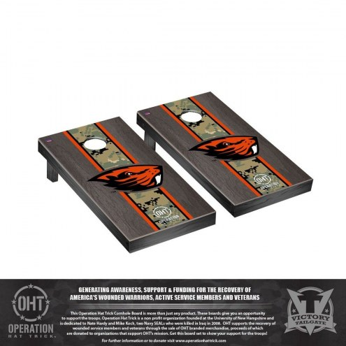 Oregon State Beavers Operation Hat Trick Stained Cornhole Game Set