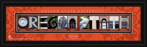 Oregon State Beavers Personalized Campus Letter Art