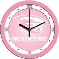 Oregon State Beavers Pink Wall Clock