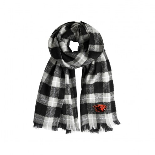 Oregon State Beavers Plaid Blanket Scarf