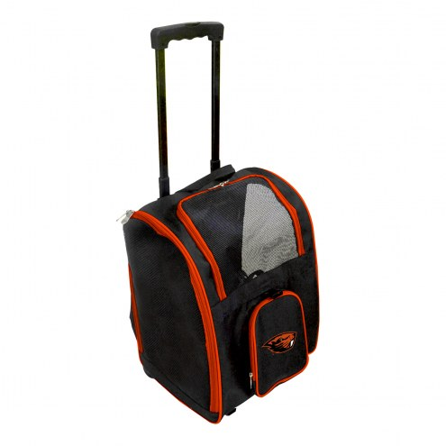 Oregon State Beavers Premium Pet Carrier with Wheels