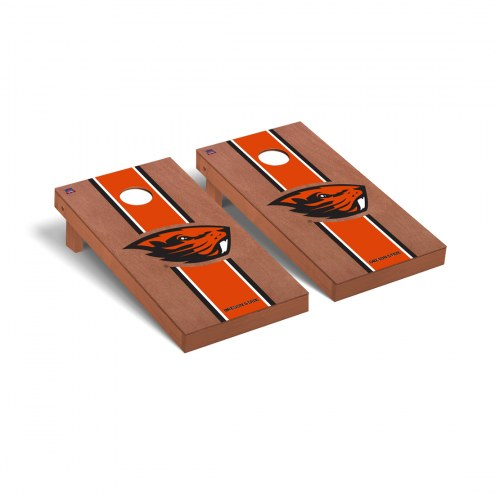 Oregon State Beavers Rosewood Stained Cornhole Game Set