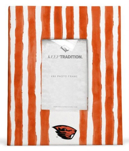 Oregon State Beavers School Stripes Picture Frame