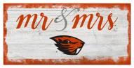 Oregon State Beavers Script Mr. & Mrs. Sign
