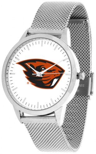 Oregon State Beavers Silver Mesh Statement Watch