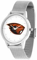 Oregon State Beavers Silver Mesh Statement Watch