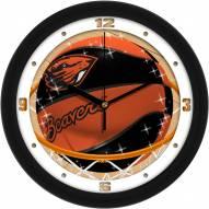 Oregon State Beavers Slam Dunk Wall Clock