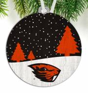 Oregon State Beavers Snow Scene Ornament