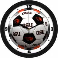 Oregon State Beavers Soccer Wall Clock
