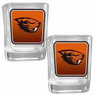 Oregon State Beavers Square Glass Shot Glass Set