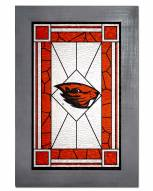 Oregon State Beavers Stained Glass with Frame
