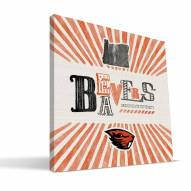 Oregon State Beavers State Canvas Print