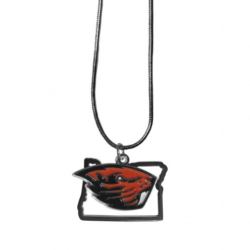 Oregon State Beavers State Charm Necklace
