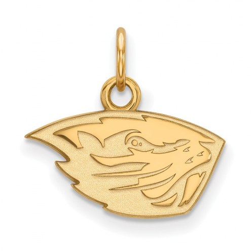 Oregon State Beavers Sterling Silver Gold Plated Extra Small Pendant