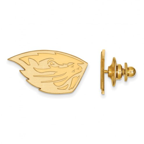 Oregon State Beavers Sterling Silver Gold Plated Lapel Pin