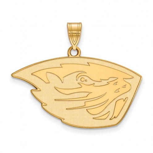 Oregon State Beavers Sterling Silver Gold Plated Large Pendant