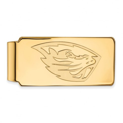 Oregon State Beavers Sterling Silver Gold Plated Money Clip