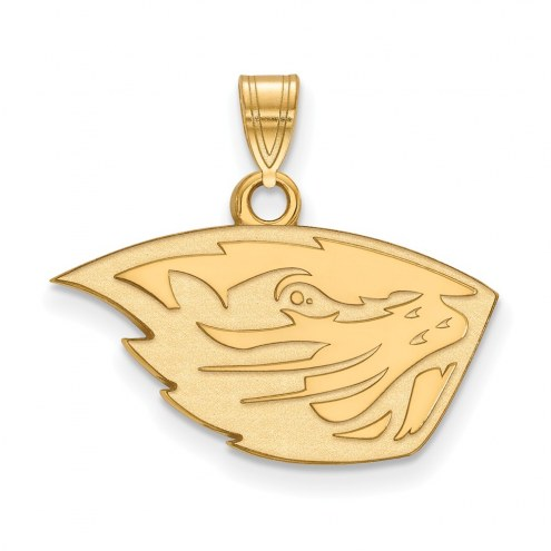 Oregon State Beavers Sterling Silver Gold Plated Small Pendant