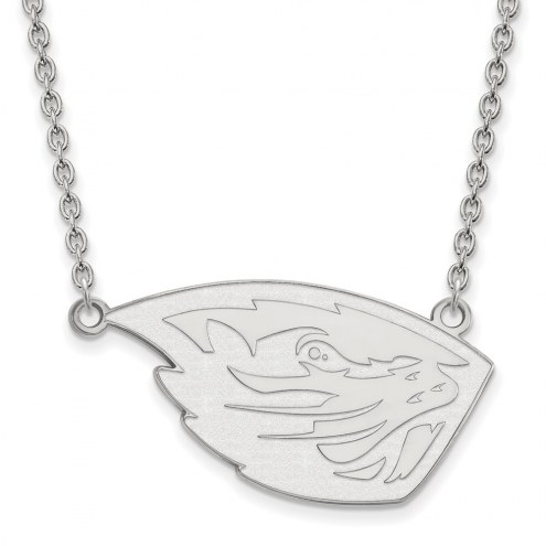 Oregon State Beavers Sterling Silver Large Pendant with Necklace