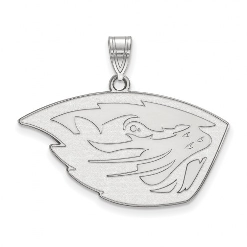 Oregon State Beavers Sterling Silver Large Pendant