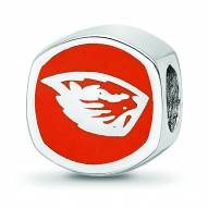Oregon State Beavers Sterling Silver Logo Bead