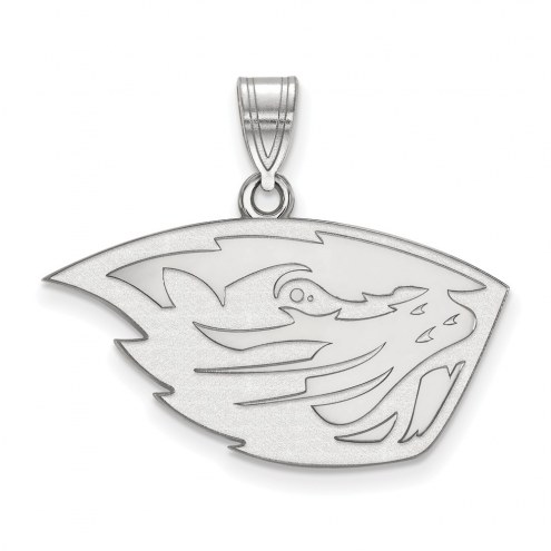 Oregon State Beavers Sterling Silver Medium Pendant