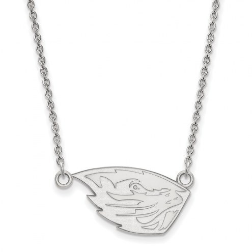 Oregon State Beavers Sterling Silver Small Pendant Necklace
