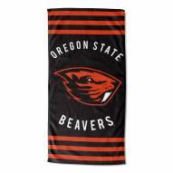 Oregon State Beavers Stripes Beach Towel